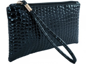 TukTek Women's Fashion Clutch Wristlet Handbag Leather Wallet Coin Purse