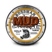 MUDstache Moustache Training Wax - .2220ml easy application water based w/ Gold scent by Bossman Brands