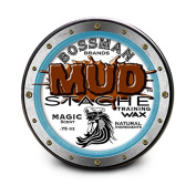 MUDstache Moustache Training Wax - .2220ml easy application water based w/ Magic scent by Bossman Brands
