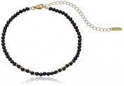 Ettika Still Surprise You Onyx and Gold Choker Necklace, 27cm + 10cm Extender