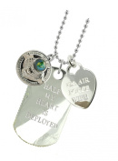 Air Force Wife Plated Military Gift Jewellery Dog Tag MF