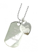 Air Force Wife Plated Military Gift Jewellery Dog Tag DT