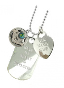 Navy Wife Plated Military Gift Jewellery Dog Tag MF
