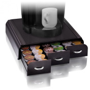 Mind Reader 'Anchor' Triple Drawer single serve coffee pod holder Black Black