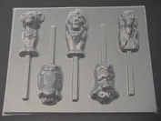 Lion King Family Chocolate Candy Lollipop Mould