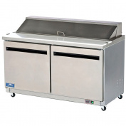 Arctic Air Double Door Mega-top Sandwich / Salad Prep Table, 0.4cbm Stainless Steel AMT60R