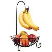 WINOMO Kitchen Fruit Basket with Detachable Banana Hanger Holder