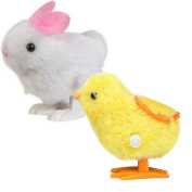Baby Kids Education Toy, FTXJ Cute New Infant Child Toys Hopping Wind Up Easter Chick and Bunny
