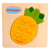 Baby Kids Education Toy, FTXJ Cute Wooden Pineapple Puzzle Educational Developmental Baby Kids Training Toy
