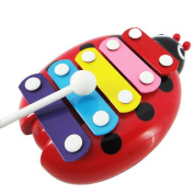 Baby Kids Education Toy, FTXJ Cute Child Kid 5-Note Xylophone Musical Beat Toys Wisdom Development Beetle Sticker