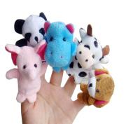 Baby Kids Education Toy, FTXJ Cute Mini 10pcs Animal Finger Puppet Plush Child Baby Early Education Toys Gift