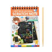 SevenMye 1 Pcs Magical Scratch Note Book Cartoon DIY Scratch Graffiti Drawing 14*10cm