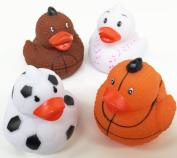 GIFTEXPRESS Small Sports Ball Rubber Ducks 1 DOZEN