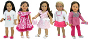 Sophia's Spring into Summer Wardrobe for 46cm Dolls Includes 5 Mix and Match Outfits, Flip Flops, Purse, Eyeglasses and Case