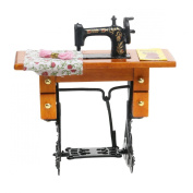 Tinksky 112 Dollhouse Miniature Sewing Machine with Cloth Scissors