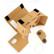 Yoyorule Google DIY Cardboard Quality 3D Vr Virtual Reality Glasses for 4-15cm CellPhone