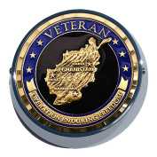 Universal Coin Mount with Operation Enduring Freedom for Motorcycles, Cars, Trucks, Boats, Bikes, All Vehicles