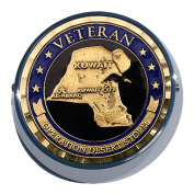 Universal Coin Mount with Operation Desert Storm for Motorcycles, Cars, Trucks, Boats, Bikes, All Vehicles
