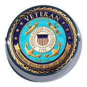 Universal Coin Mount with Coast Guard Veteran for Motorcycles, Cars, Trucks, Boats, Bikes, All Vehicles