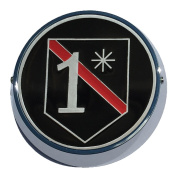 Universal Coin Mount with Fire Fighter 1 Asterisk for Motorcycles, Cars, Trucks, Boats, Cars, All Vehicles