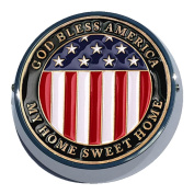 Universal Coin Mount with American Flag for Motorcycles, Cars, Trucks, Boats, Bikes, All Vehicles