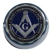 Universal Coin Mount with Masonic for Motorcycles, Cars, Trucks, Boats, Bikes, All Vehicles