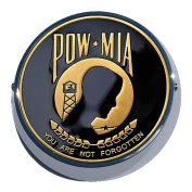Universal Coin Mount with POW-MIA for Motorcycles, Cars, Trucks, Boats, Bikes, All Vehicles