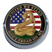 Universal Coin Mount with Don't Tread On Me for Motorcycles, Cars, Trucks, Boats, Bikes, All Vehicles