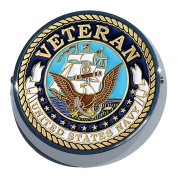 Universal Coin Mount With Navy Veteran for Motorcycles, Cars, Trucks, Boats, Bikes, All Vehicles
