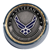 Universal Coin Mount with Air Force Veteran for Motorcycle, Cars, Trucks, Boats, Bikes, All Vehicles