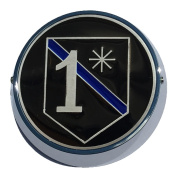 Universal Coin Mount with Police 1 Asterisk for Motorcycles, Cars, Trucks, Boats, Bikes, All Vehicles