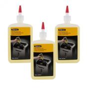 Fellowes Shredder Oil, 350ml Bottle w/Extension Nozzle, Pack of 3