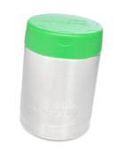 LunchBots Thermal 350ml All Stainless Steel Interior - Insulated Food Container Stays Warm for 6 Hours or Cold for 12 Hours - Leak Proof Soup Jar for Portable Convenience - Green