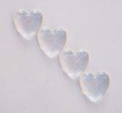 20 Deanna's Supply Shop Heart Glass Cabochons - 1 inch - 25mm - Clear Dome Magnifying Cabs - 1""