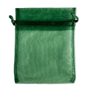 Drawstring Organza Jewellery Pouch Bags 7.6cm x 10cm (Package of 10) Hunter Green