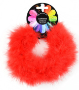 Touch of Nature 1-Piece Feather Marabou Craft Boa for Arts and Crafts, 1-Yard, Red