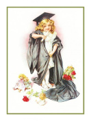 Child Graduation by Maud Humphrey Bogart Counted Cross Stitch Pattern
