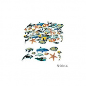 500 Foam Realistic Ocean Animal Self-Adhesive Shapes/ARTS & CRAFTS/SCRAP BOOKING/Teacher Supplies