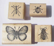 Nature's Blessings Fine Art Stamps, Set of 4 Small Insect Stamps