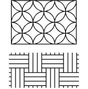 Quilting Creations Sashiko Paving Stones/Interlocking Circles Stencil, 23cm x 30cm