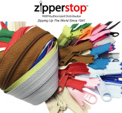 Zipperstop Wholesale YKK® 60cm Purse Zippers Extra Long Handbag Pull Assorted Colours 19 Piece Pack YKK® #4.5 Handbag Closed Bottom Crafter's Special - Made in USA Made in USA