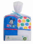 Disney 2 Piece Hooded Towel Set, Mickey Mouse