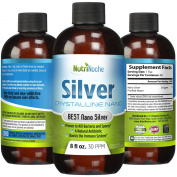 NutriNoche Silver Mineral Liquid Supplement - Daily Immune System Support - 30 PPM