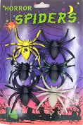 Six Colourful Spider Horror Halloween Joke Prank Pack of Six Spider