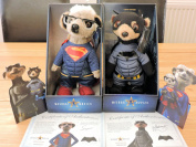 Official Limited Editions Superman Vs Batman Meerkat Movies Collectible Soft Toys Alexandr & Sergei