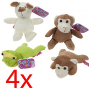 SET OF 4 SUPER SOFT PLUSH CUDDLY ANIMALS KIDS FUN GIFT TOYS TEDDY BEAR CUTE 18cm