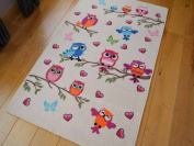 Kids Non Slip Machine Washable Cute Owl Play Mat. Available in 3 Sizes