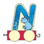Letter Train N 50 x 40 x 70 New Train Locomotive Railway Wooden Train