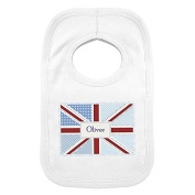 Personalised Patchwork Union Jack 0-3 Months Baby Bib - Baby & Kids Gifts - Baby Bib - Baby Clothing