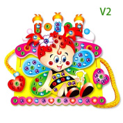 GGG EVA Diamond Cartoon Handmade DIY Hand-sewn Bag 3D Stickers Educational Toy Cake